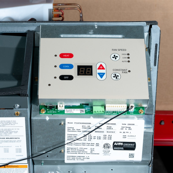PTAC Unit - NEW - 12k - 208v - 15A - Electric Heat - Digital - PTC123G25AXXX - Amana - 1 Product Image 3