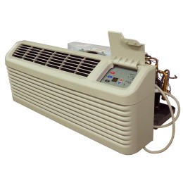 PTAC Unit - 15k Amana PTH Series 208v Air Conditioner with Heat Pump and 5.0 kW Resistive Electric Heat