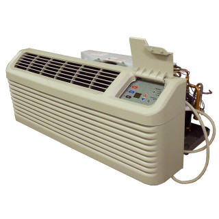 7,000 to 15,000 Btu Amana DigiSmart PTAC with 3.5 kW Electric Heat and Heat Pump - 265 V / 20 A