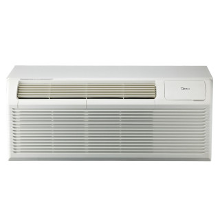 9,000 to 15,000 Btu Midea PTACs with 3.5 kW Electric Heat and Heat Pump - 208/230 V / 20 A